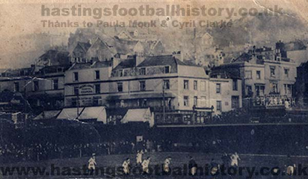 Hastings & St Leonards United vs Portsmouth. FA Cup first round 1908.