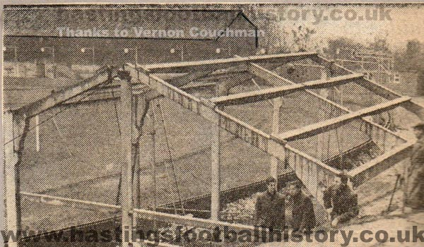 New stand being built at the Pilot Field, circa 1956...