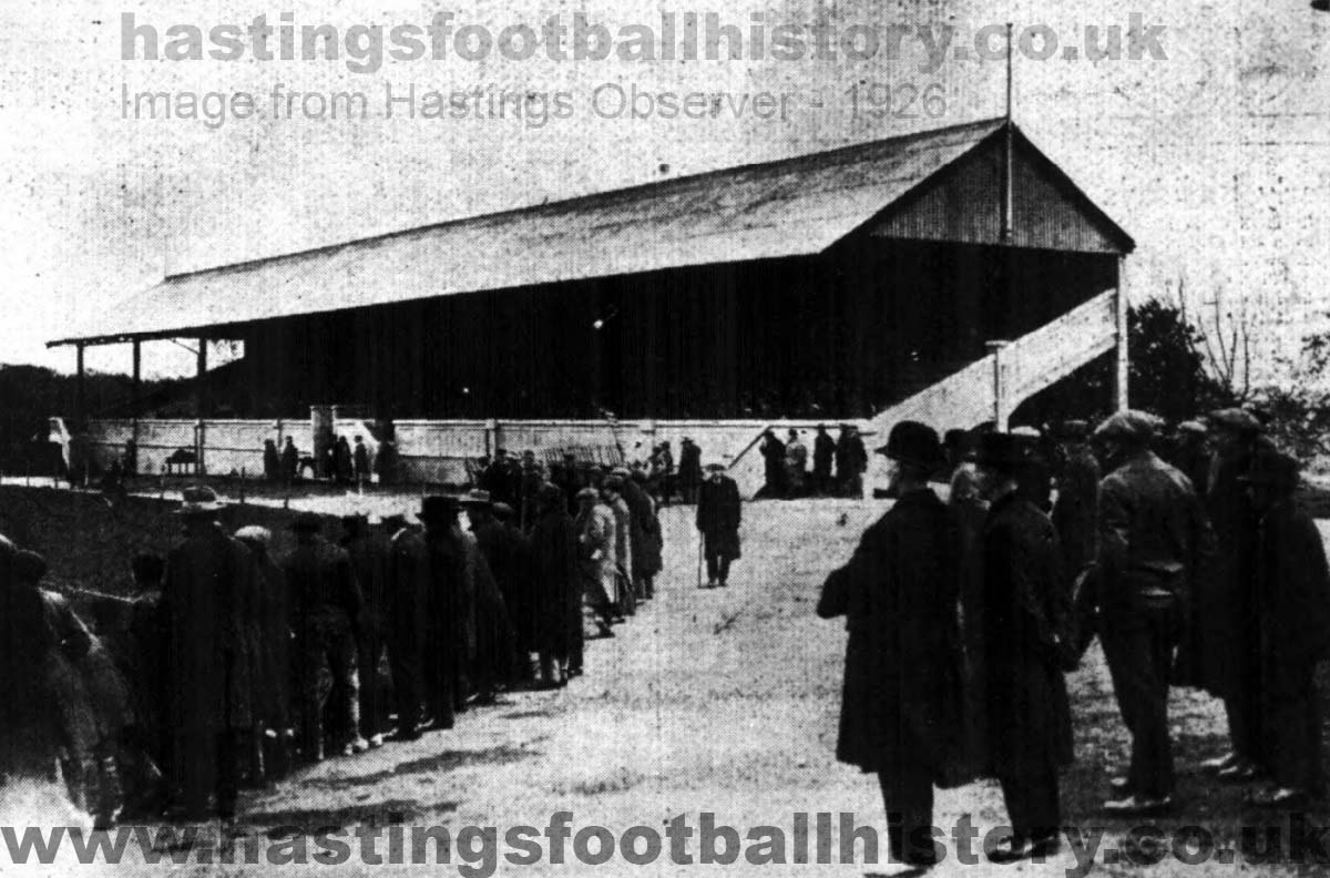 View of the main stand at the Pilot Field in 1926